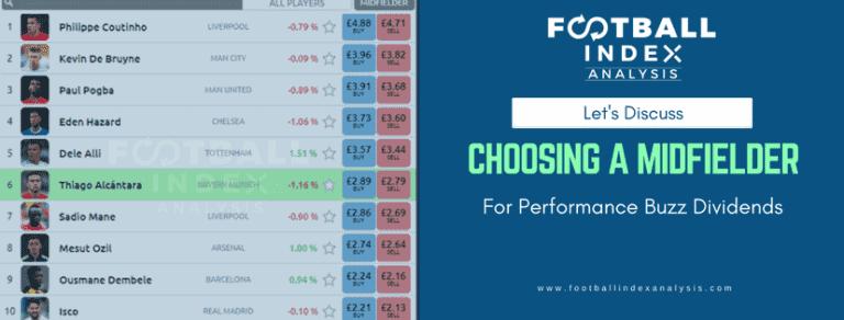 Football index midfielder Performance buzz