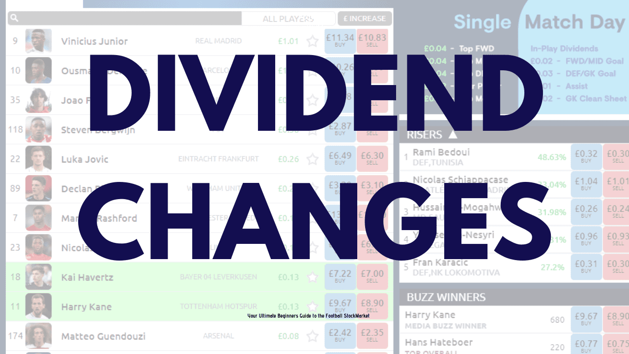 Football Index dividends changes