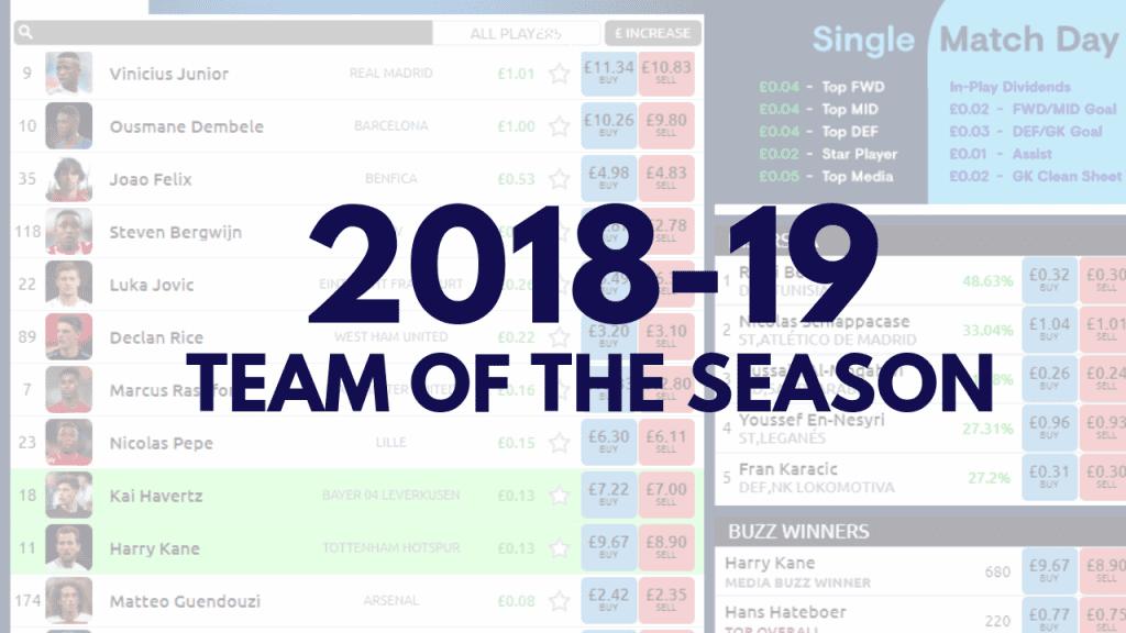 Football index 2018 2019 team of the season
