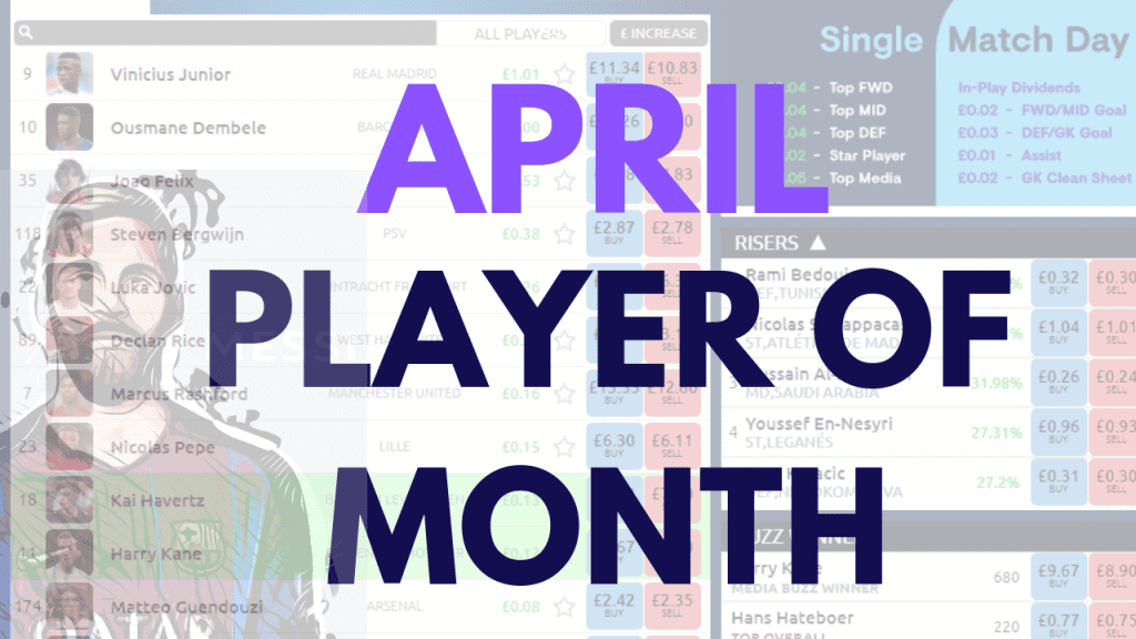 April Player of the Month Football index