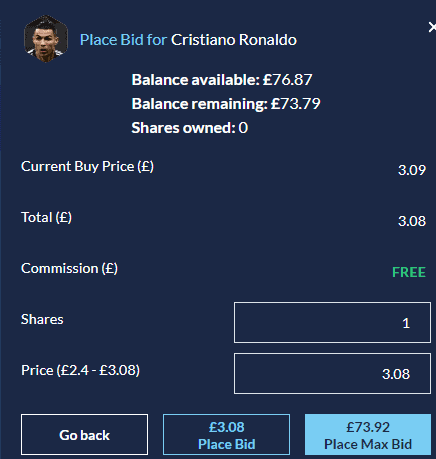 Football Index Guide Bidding For a Player