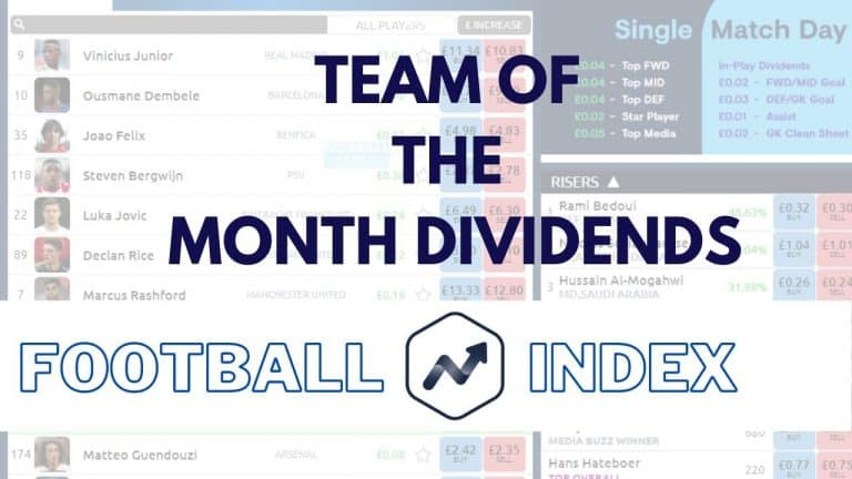 Team of the Month Dividends